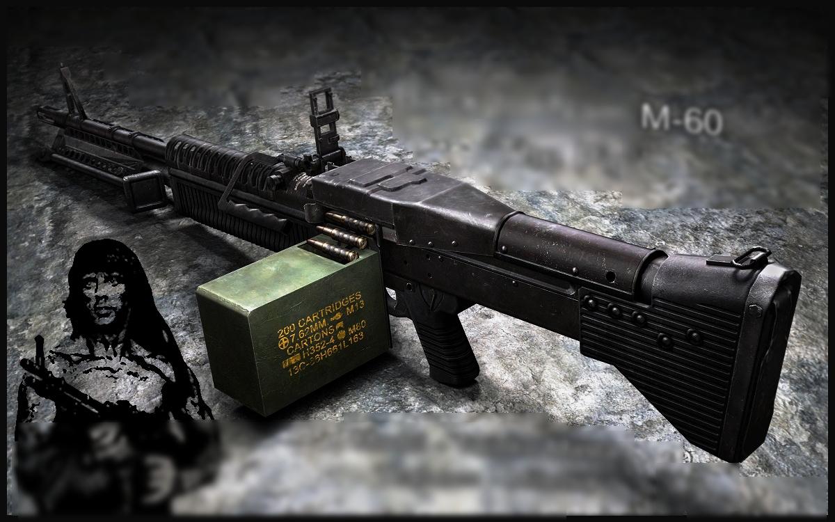 Скачать new M60 для css - Модели оружия для css - Пулемет (M60 ...