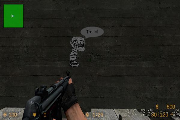 Весёлый спрей Trollface pee